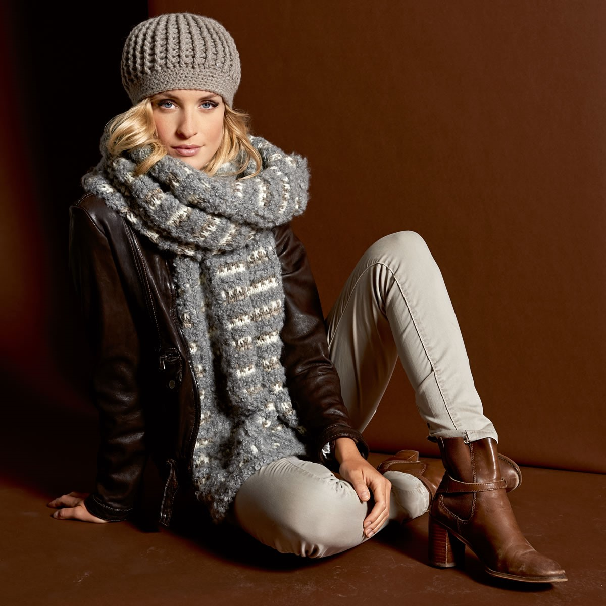 Lana Grossa TUCH IM MATERIALMIX AM Cashmere/Bombolo/Royal Tweed
