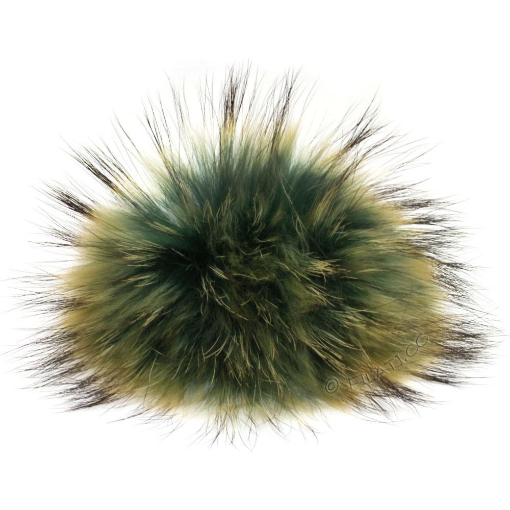 FELLPOMPON Finnraccoon Natur Color | 502-Smaragd/Sand