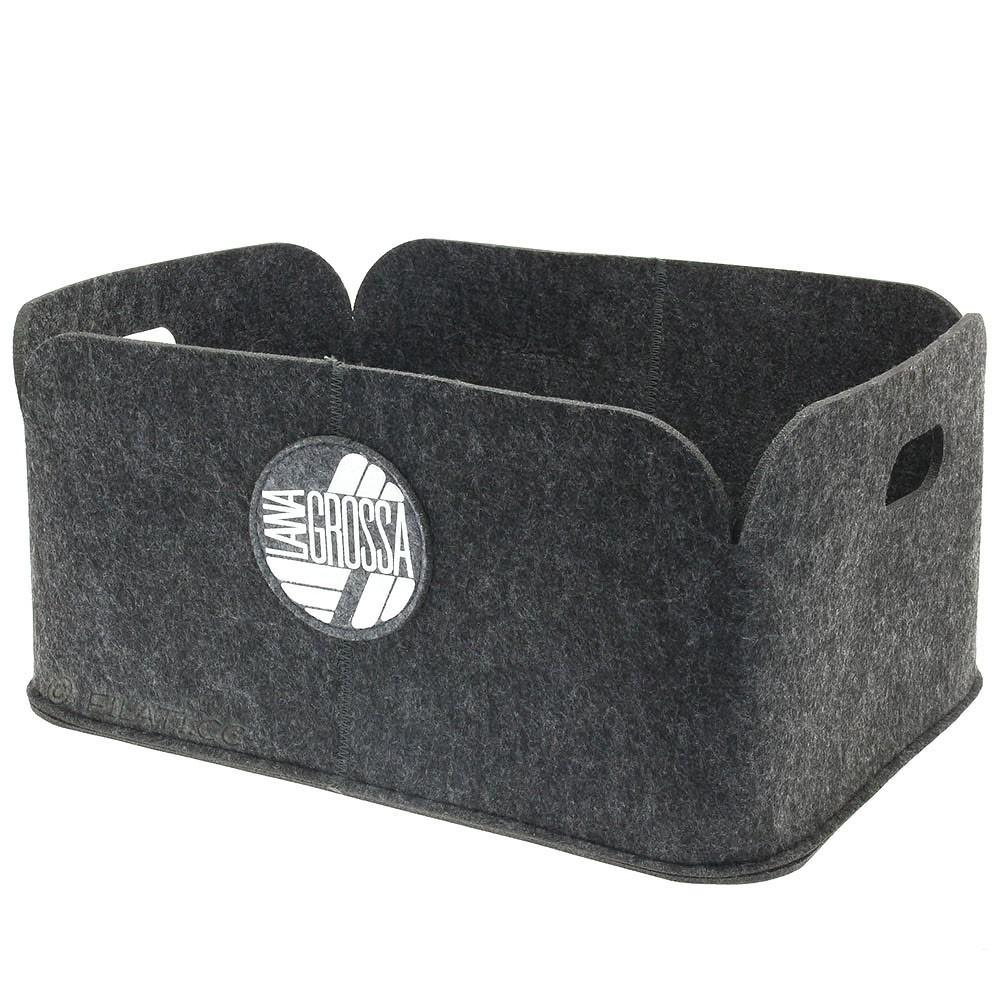 Wollkorb | 01-Grau - ca. 40 x 30 x 18,5 cm