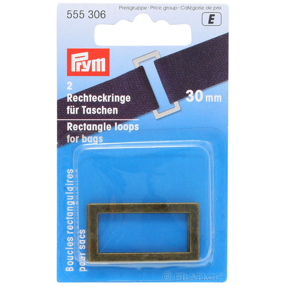 Rechteckringe 555306/30mm | 306-Altmessing