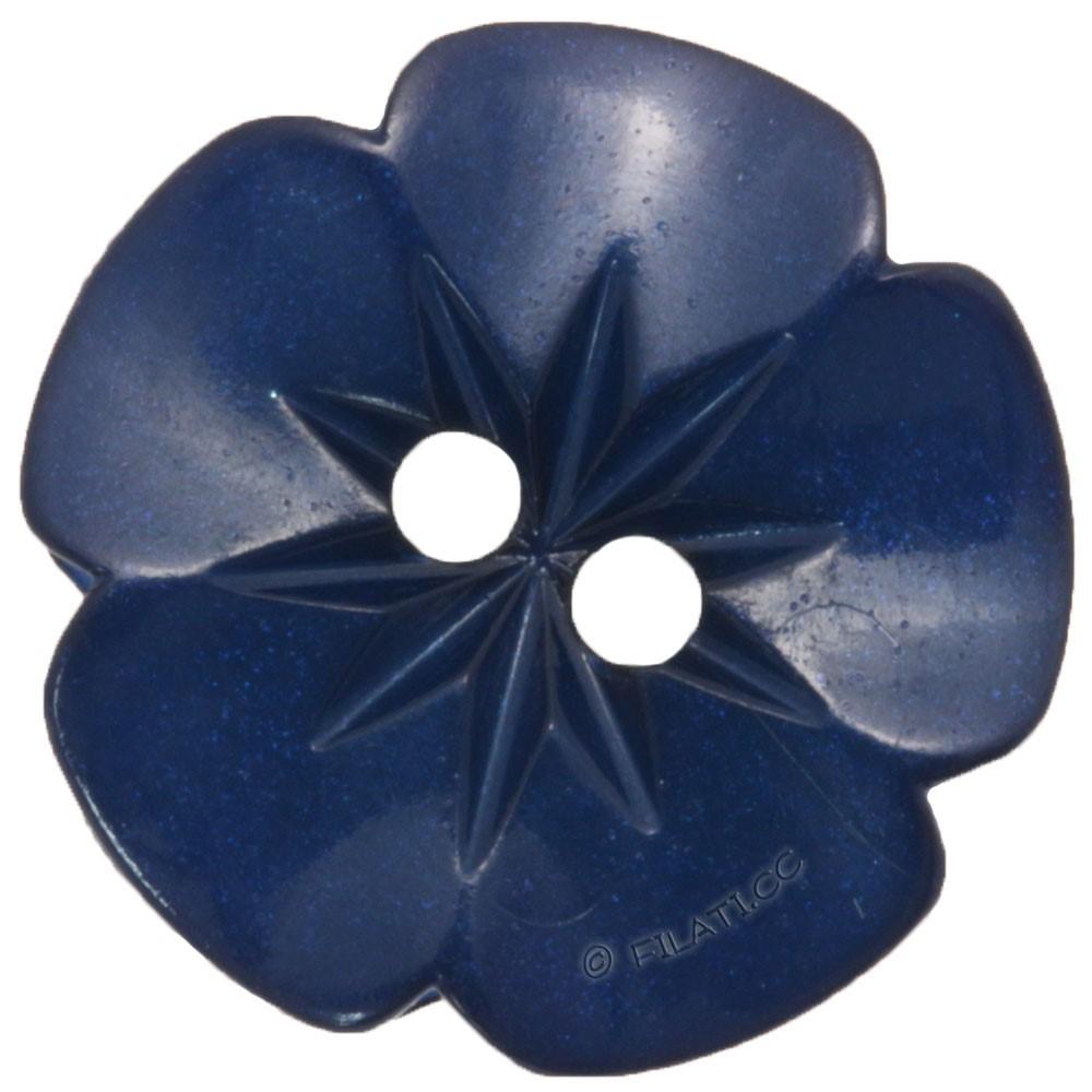 UNION KNOPF 26533/15mm | 68-dunkelblau