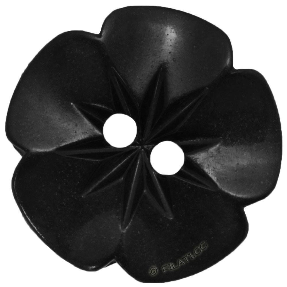 UNION KNOPF 26533/15mm | 80-schwarz