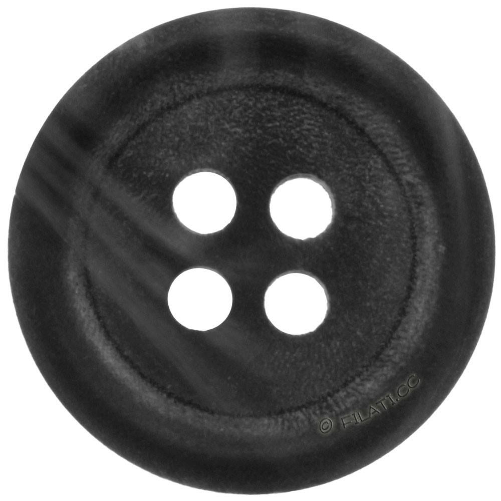 UNION KNOPF 36428/15mm | 80-Schwarz