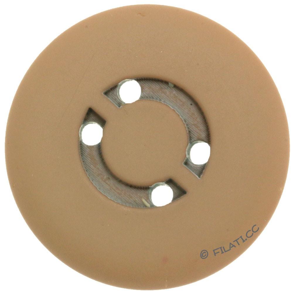 UNION KNOPF 450472/25mm | 18-hellbraun