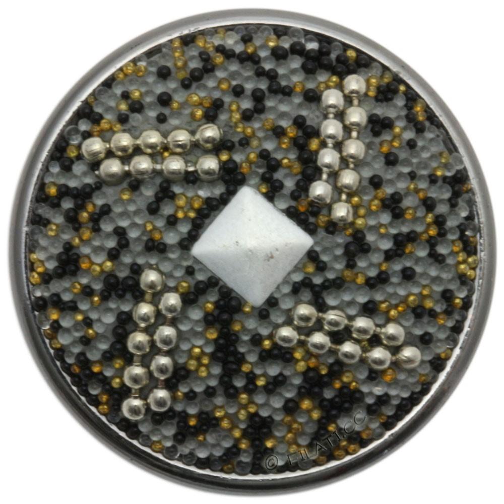 UNION KNOPF 451692/32mm | 76-Grau/Silber/Gold