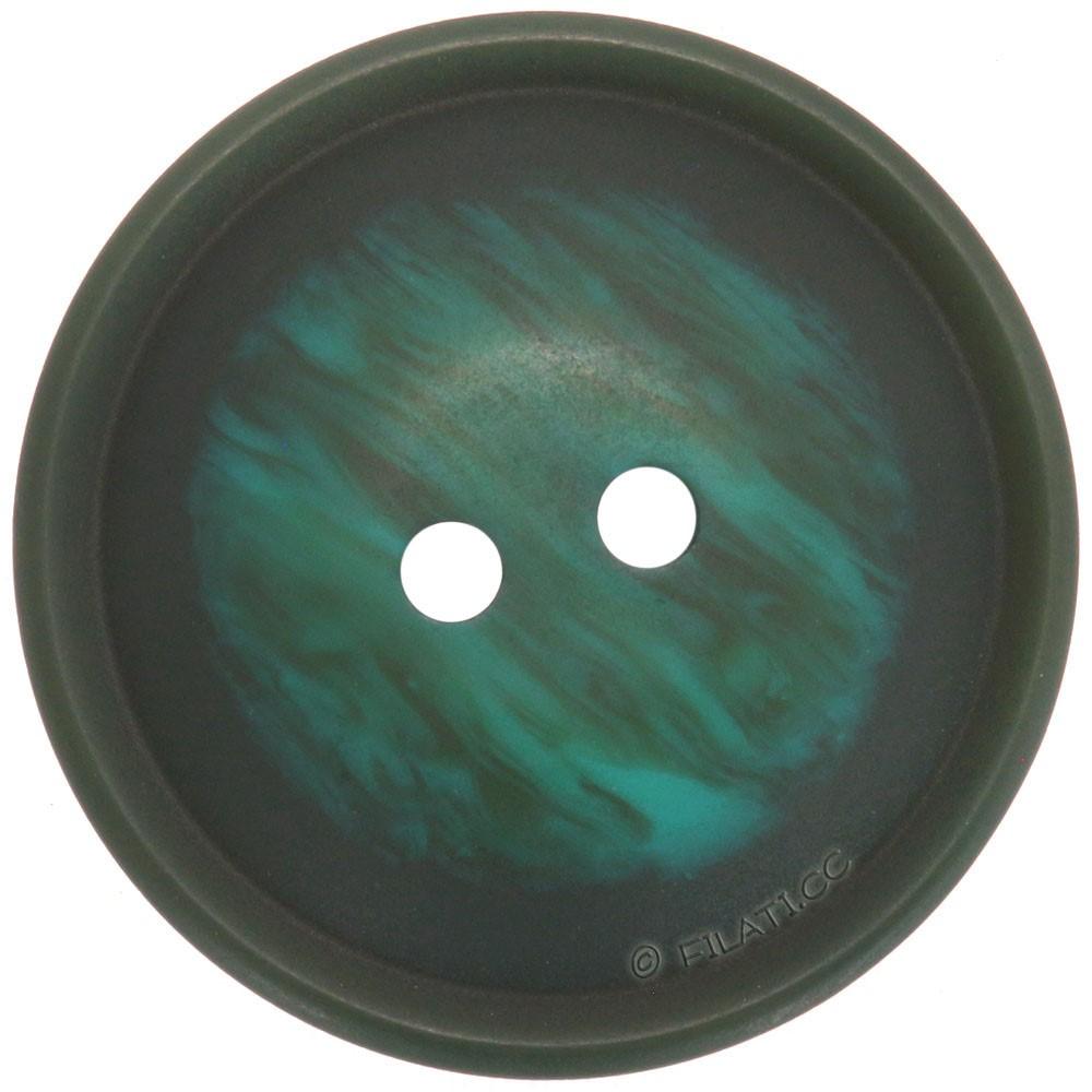UNION KNOPF 452118/25mm | 72-Smaragdgrün meliert