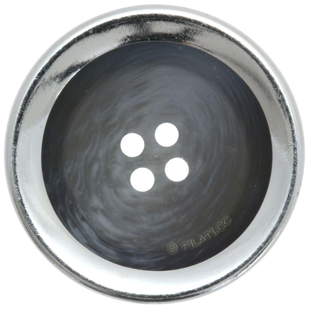 UNION KNOPF 452555/25mm | 76-Blau/Grau/Silber