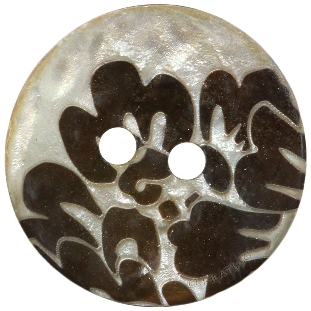 UNION KNOPF 452665/23mm | 20-Silber/Braun