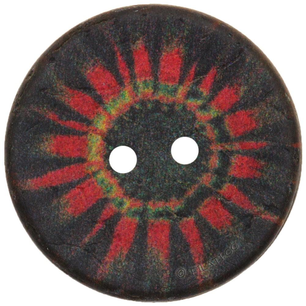 UNION KNOPF 452738/23mm | 80-Schwarz/Rot
