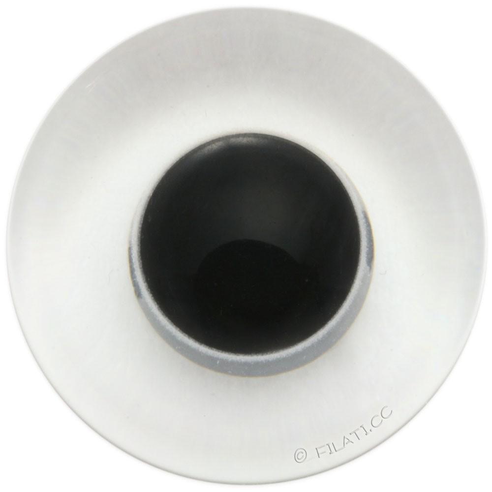 UNION KNOPF 45462/23mm | 10-Transparent/Schwarz
