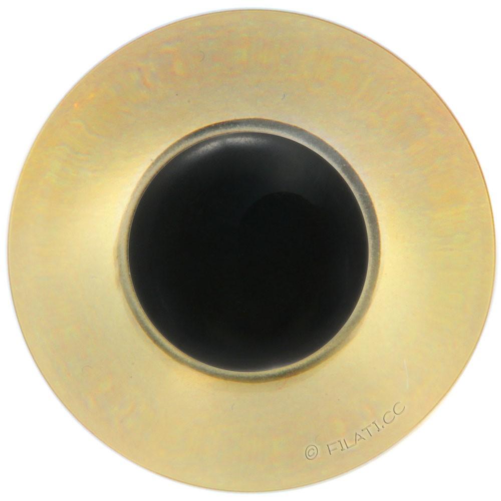 UNION KNOPF 45462/23mm | 16-Braun/Schwarz