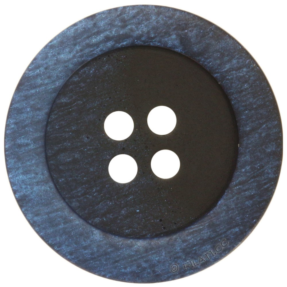 UNION KNOPF 46943/20mm | 66-Schwarz/Blau