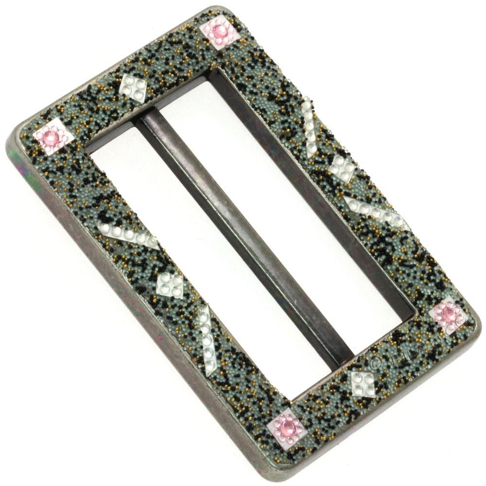 UNION KNOPF 500309/8,5cm | 76-Silber/Gold/Schwarz/Rosa