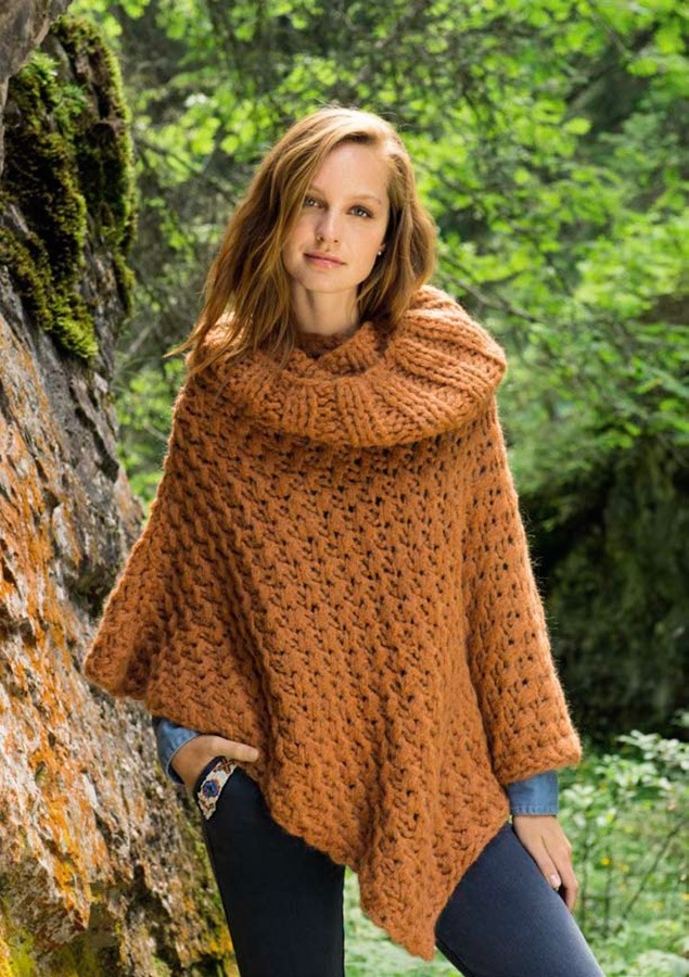 Lana Grossa PONCHO Big & Easy Molle