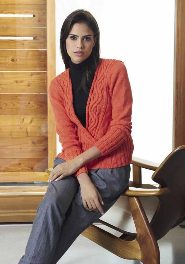 Lana Grossa PULLI MIT WELLENZOPFBLENDE Cool Wool