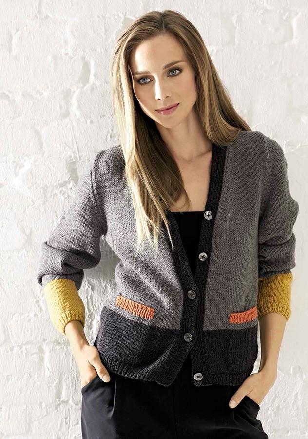 Lana Grossa JACKE MIT TASCHEN Cool Wool Big