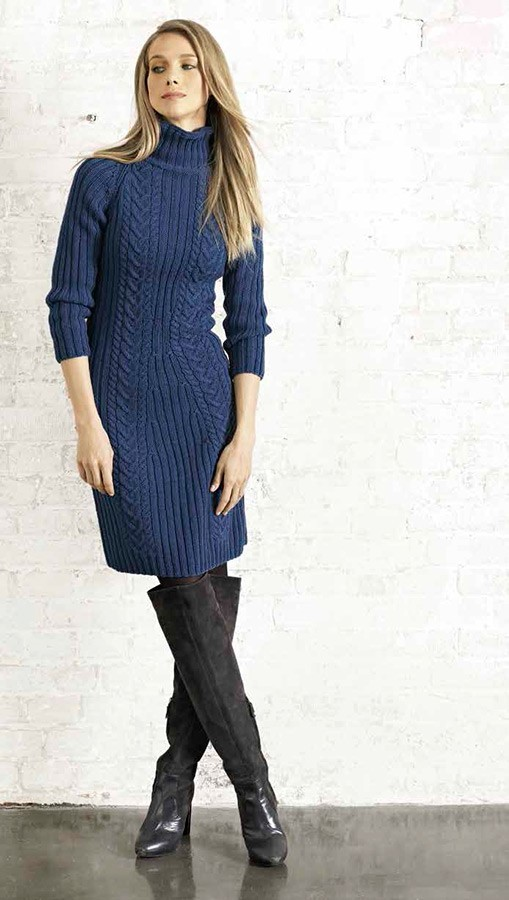Lana Grossa RAGLANKLEID MIT ZOPF Cool Wool Big