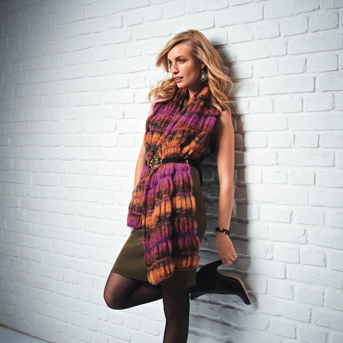 Lana Grossa SCHAL IM SMOKMUSTER Silkhair Print/Lace Merino Print/Degradé