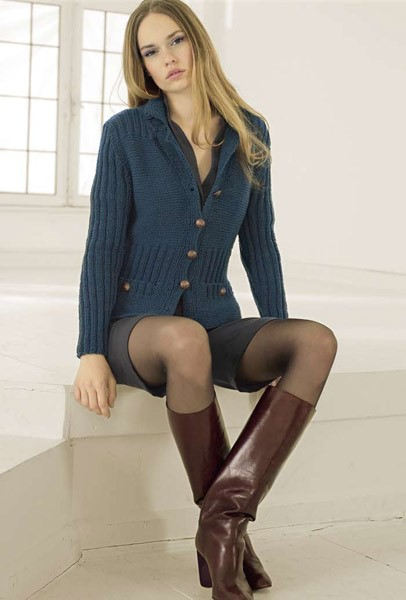Lana Grossa Jacke COOL WOOL big melange