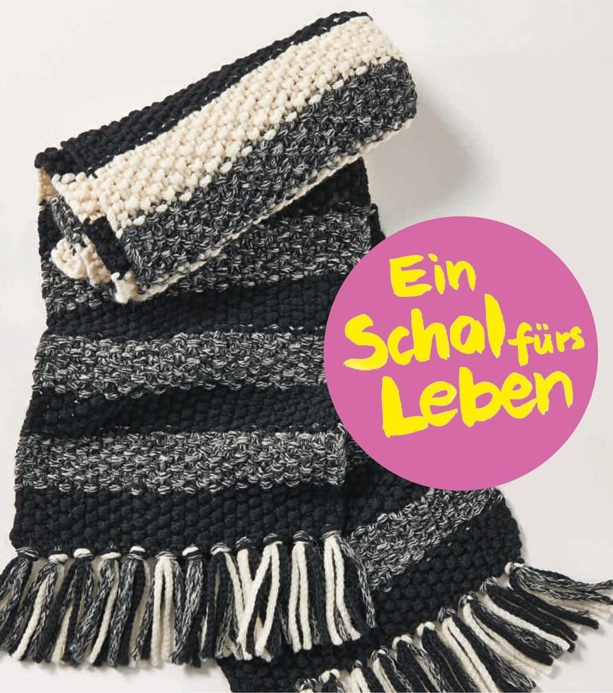 Lana Grossa SCHAL IM PERLMUSTER MIT STREIFEN AM Superbaby (Lala Berlin)