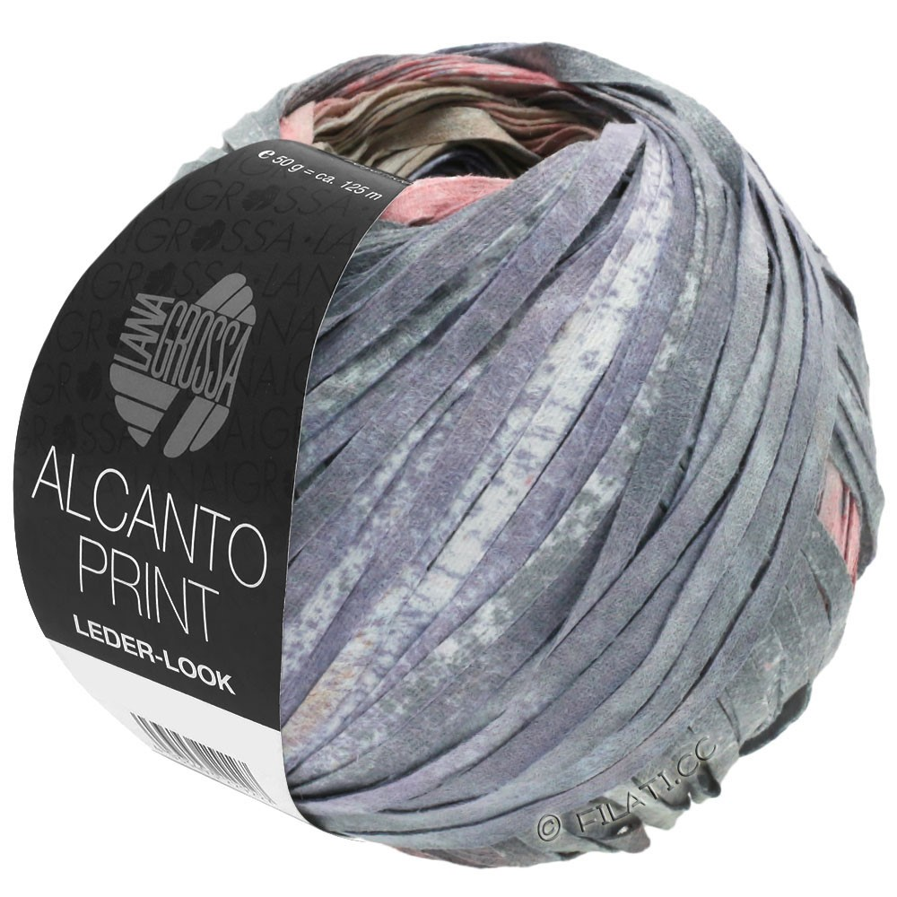 Lana Grossa ALCANTO Print | 205-Natur/Beige/Grau/Altrosa