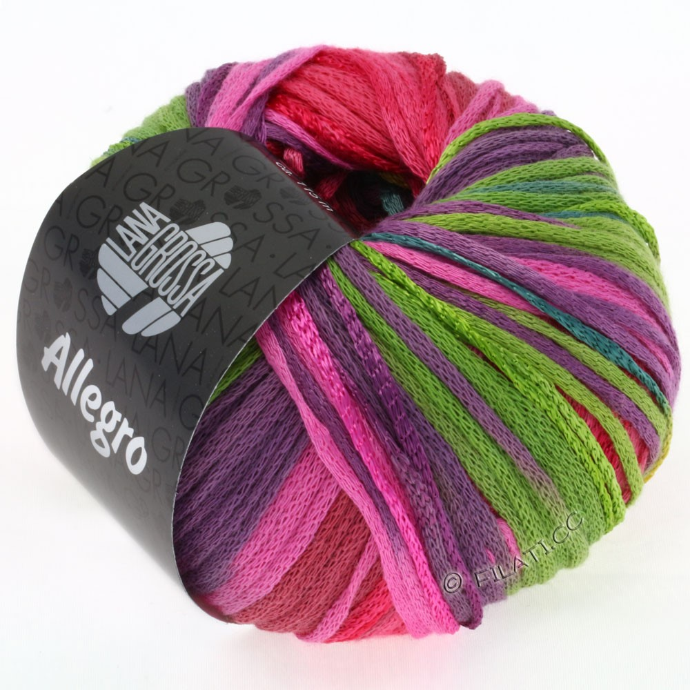 Lana Grossa ALLEGRO | 001-Türkis/Senfgelb/Pink/Hellgrün/Violett