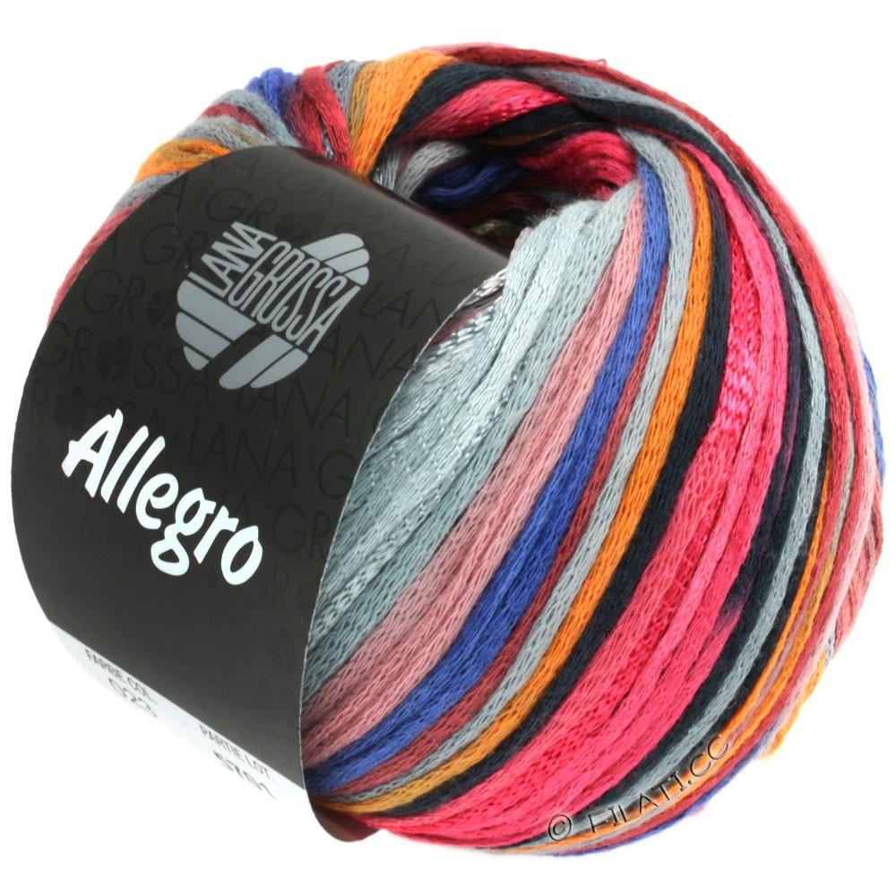 Lana Grossa ALLEGRO | 023-Himbeer/Orange/Silbergrau/Stahlblau