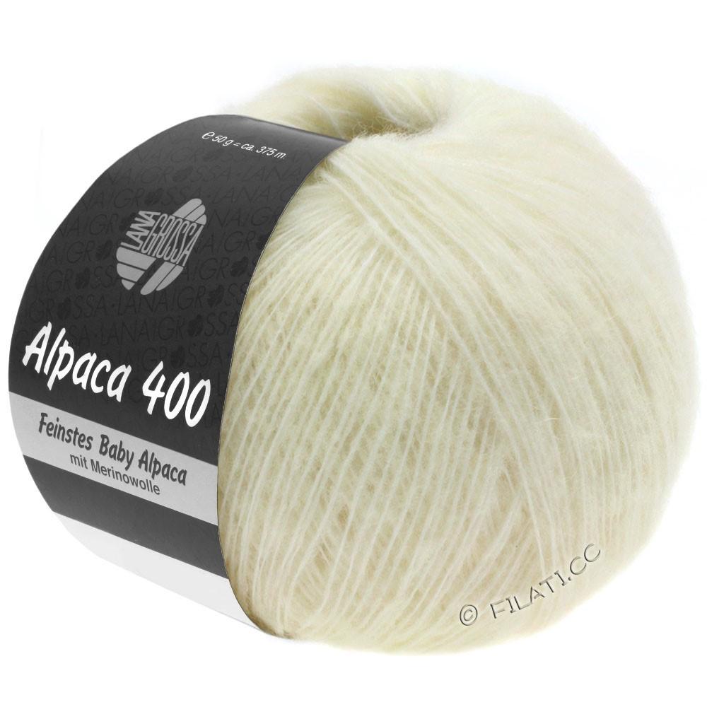 Lana Grossa ALPACA 400 | 01-Rohweiß