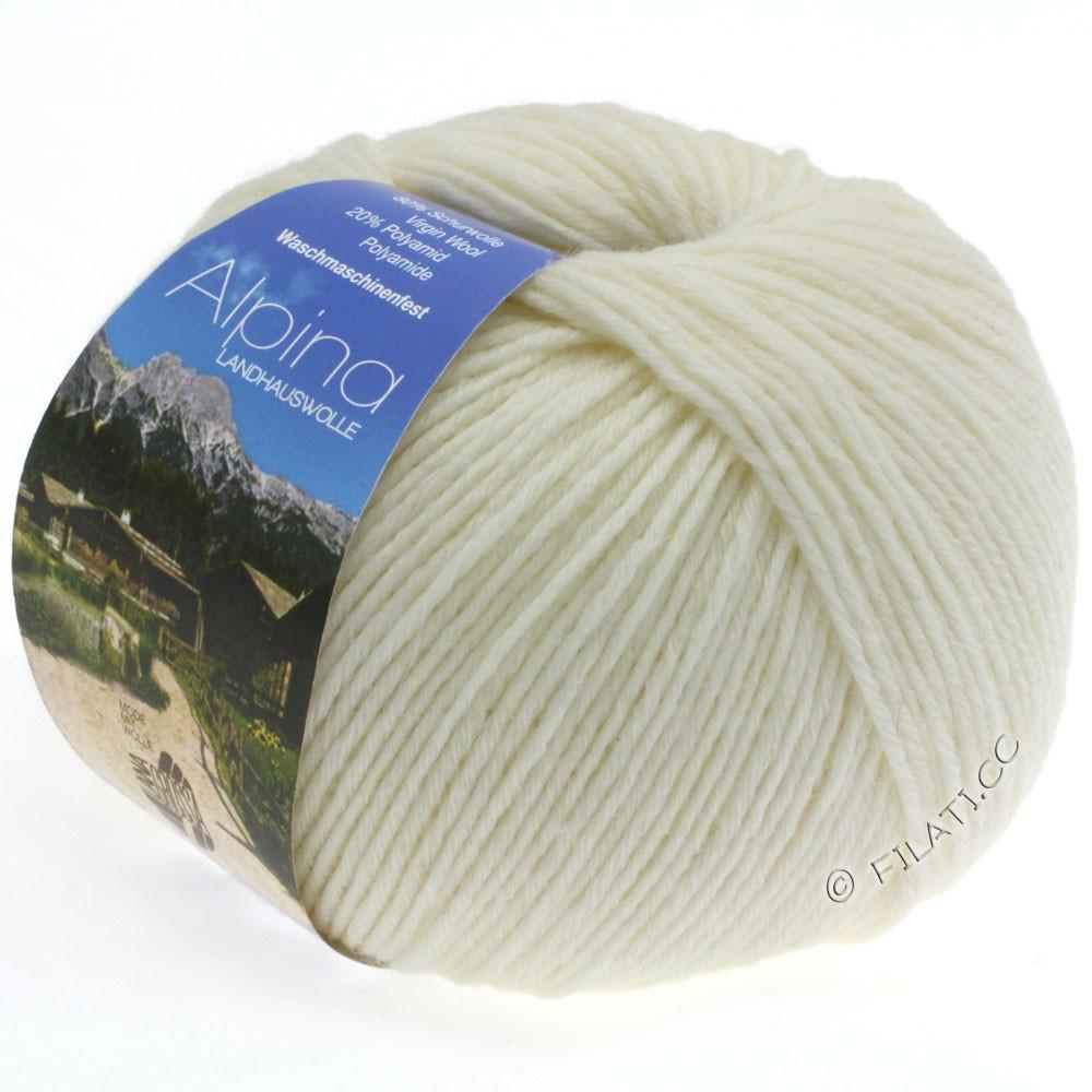 Lana Grossa ALPINA Landhauswolle | 11-Weiß