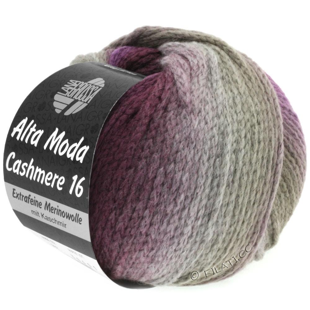 Lana Grossa ALTA MODA CASHMERE 16 Degradé | 102-Taupe/Brombeer/Violett