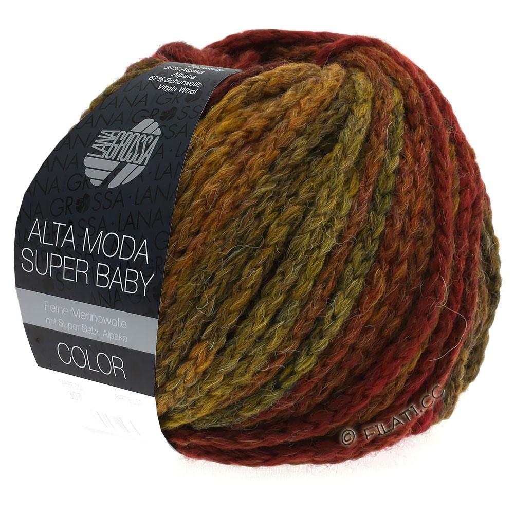 Lana Grossa ALTA MODA SUPER BABY  Color | 302-Dunkelrot/Senf/Ziegelrot/Braun