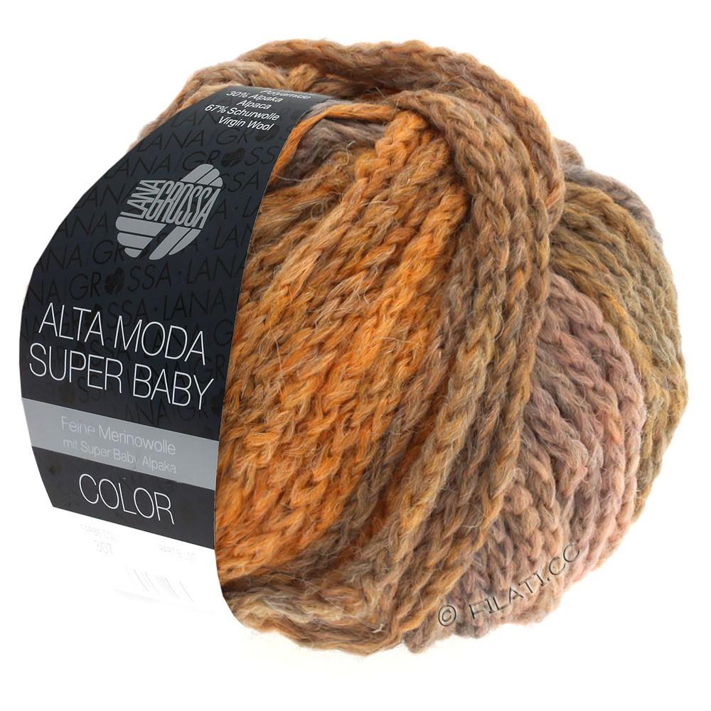 Lana Grossa ALTA MODA SUPER BABY  Color | 306-Hellgrau/Hellorange/Altrosa