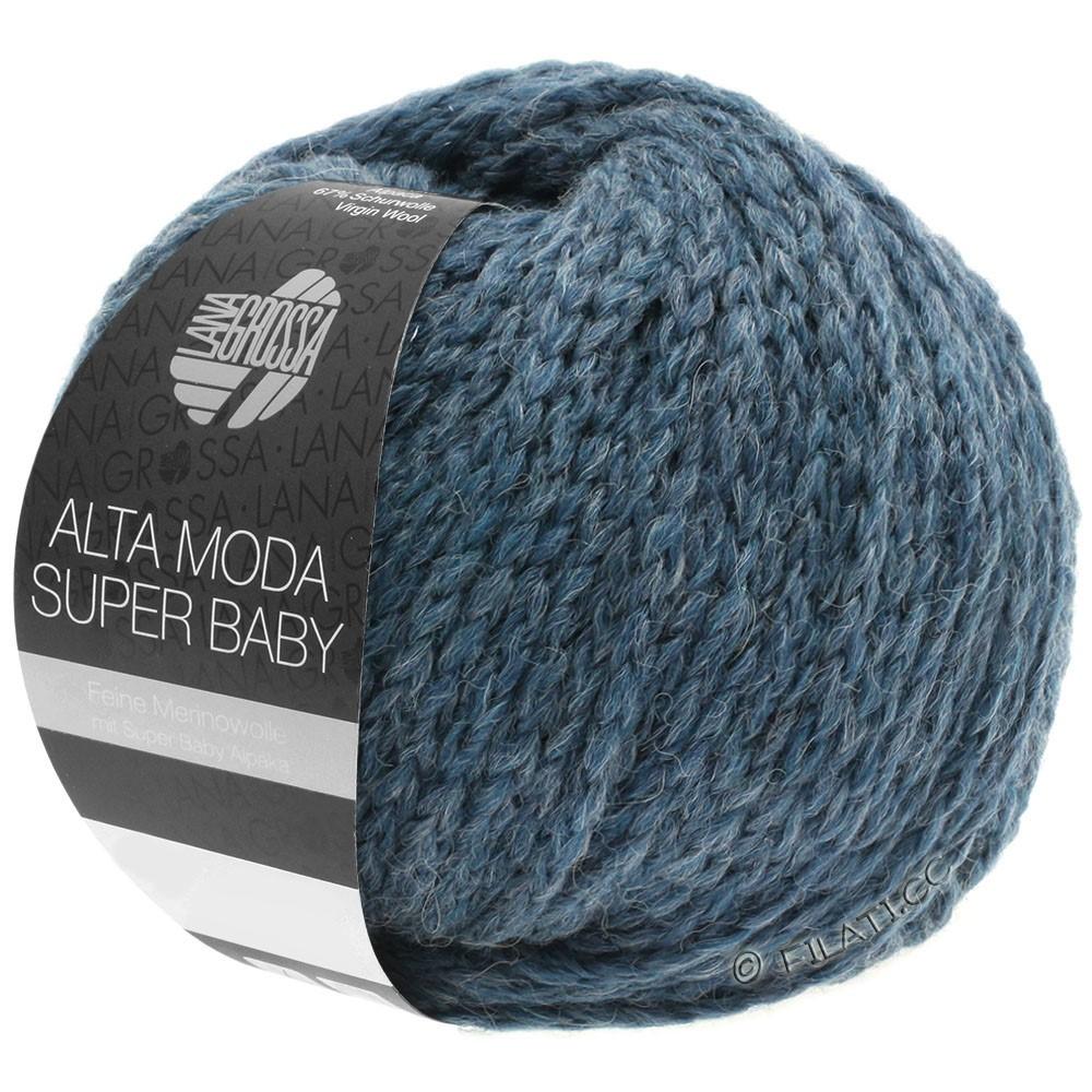 Lana Grossa ALTA MODA SUPER BABY  Uni | 41-Graublau meliert
