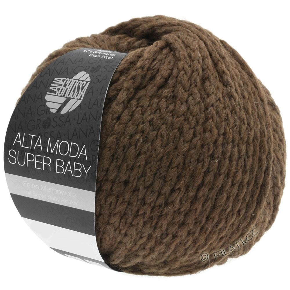 Lana Grossa ALTA MODA SUPER BABY  Uni | 45-Dunkelbraun