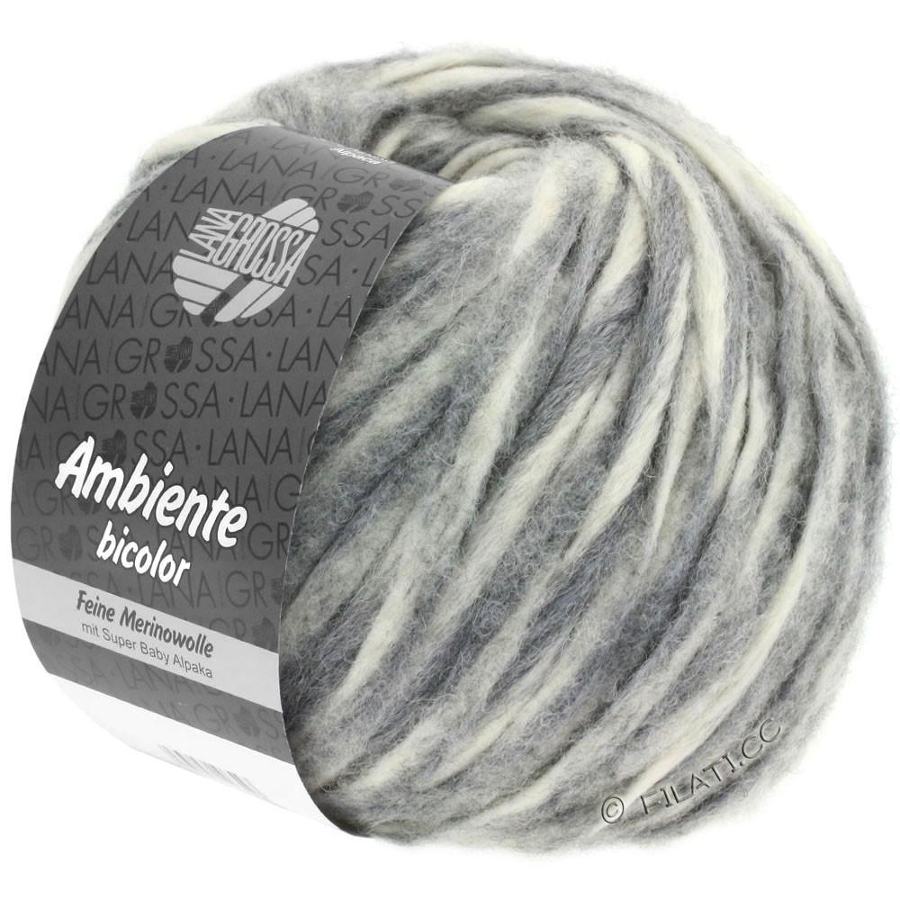 Lana Grossa AMBIENTE Bicolor | 101-Rohweiß/Grau