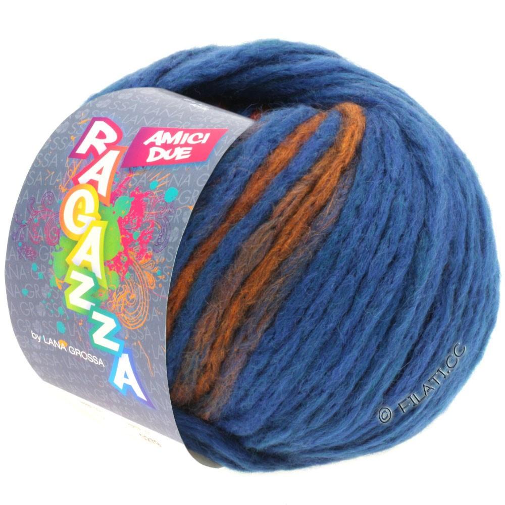 Lana Grossa AMICI DUE (Ragazza)   103-Blau/Kupfer