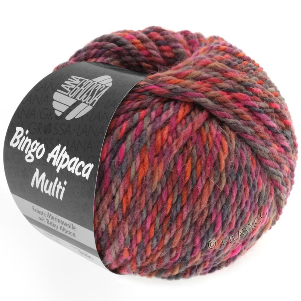 Lana Grossa BINGO ALPACA Multi | 103-Himbeer/Beere/Taupe/Rost/Pink/Rotviolett
