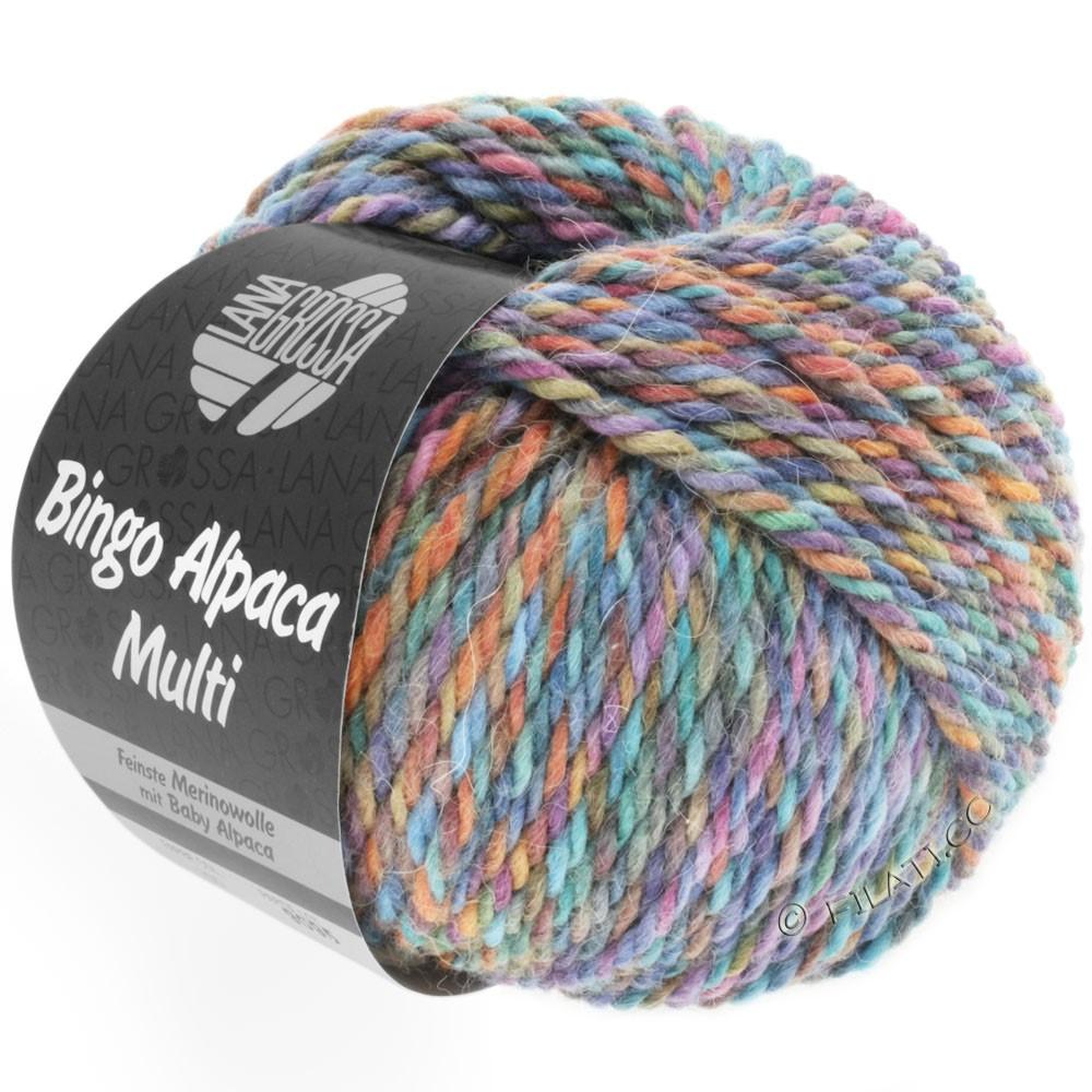 Lana Grossa BINGO ALPACA Multi | 105-Türkis/Rost/Flieder/Violett/Braun