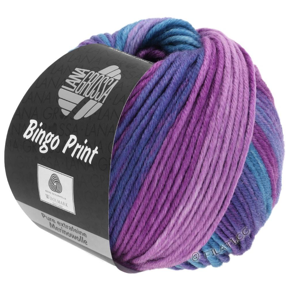 Lana Grossa BINGO Print | 634-Flieder/Taubenblau/Violett