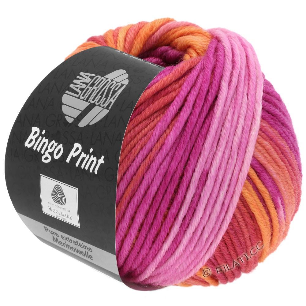 Lana Grossa BINGO Print | 635-Lachs/Koralle/Orange/Pink