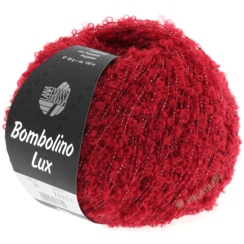 Lana Grossa BOMBOLINO Lux   001-Rot/Silber