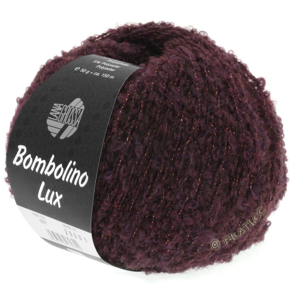Lana Grossa BOMBOLINO Lux   002-Brombeer/Kupfer