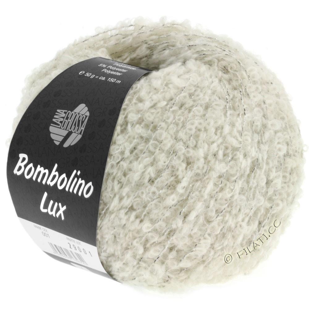 Lana Grossa BOMBOLINO Lux | 006-Rohweiß/Silber