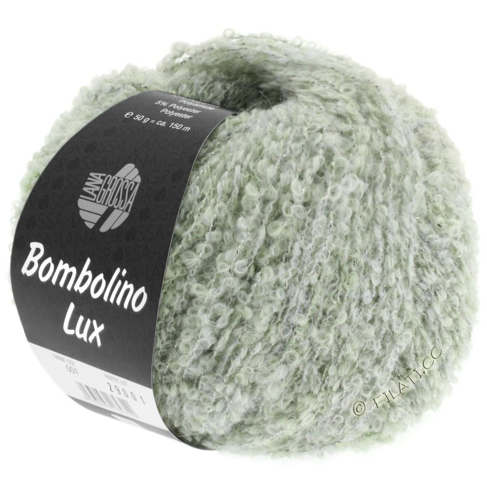 Lana Grossa BOMBOLINO Lux   007-Zartgrün/Silber