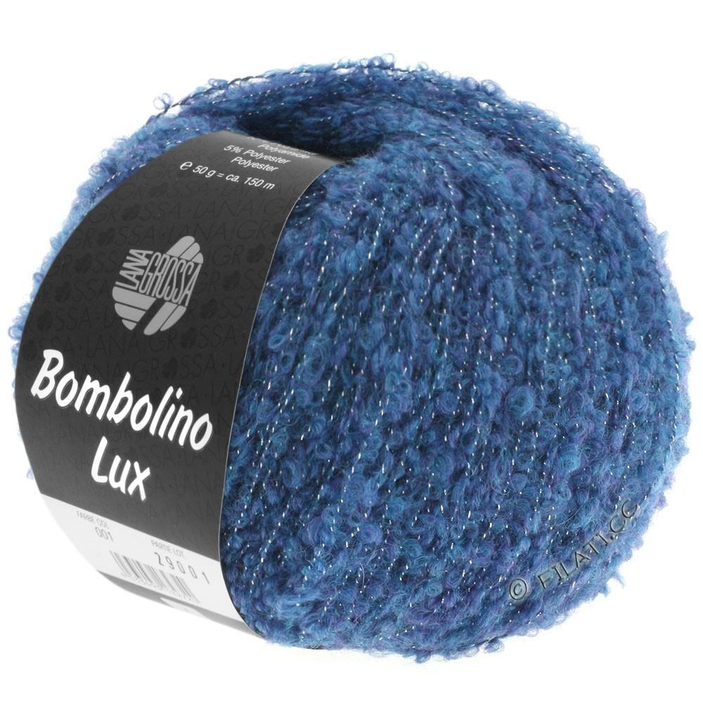 Lana Grossa BOMBOLINO Lux   009-Blau/Silber