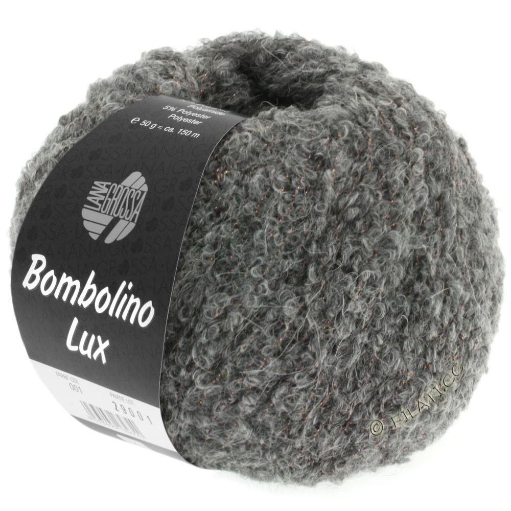 Lana Grossa BOMBOLINO Lux | 011-Grau/Kupfer