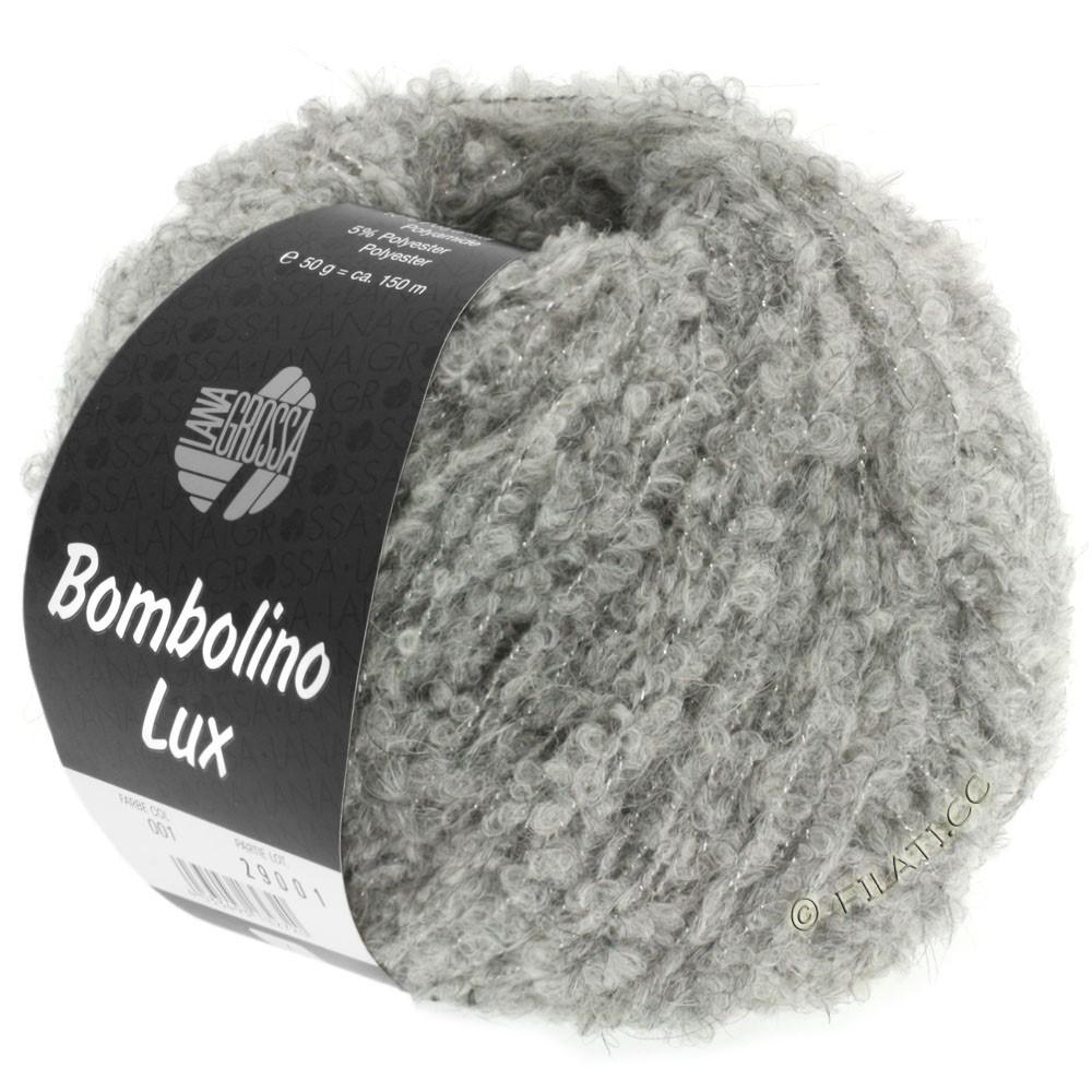 Lana Grossa BOMBOLINO Lux   012-Hellgrau/Silber