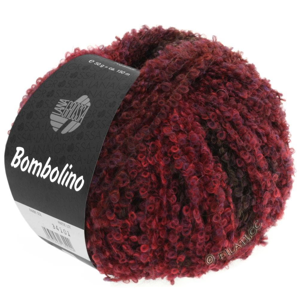 Lana Grossa BOMBOLINO Degradé | 108-Rot/Violett/Braunrot