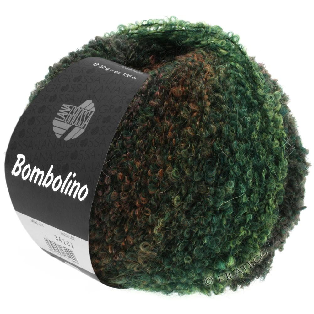 Lana Grossa BOMBOLINO Degradé | 109-Grün/Tanne/Rotbraun