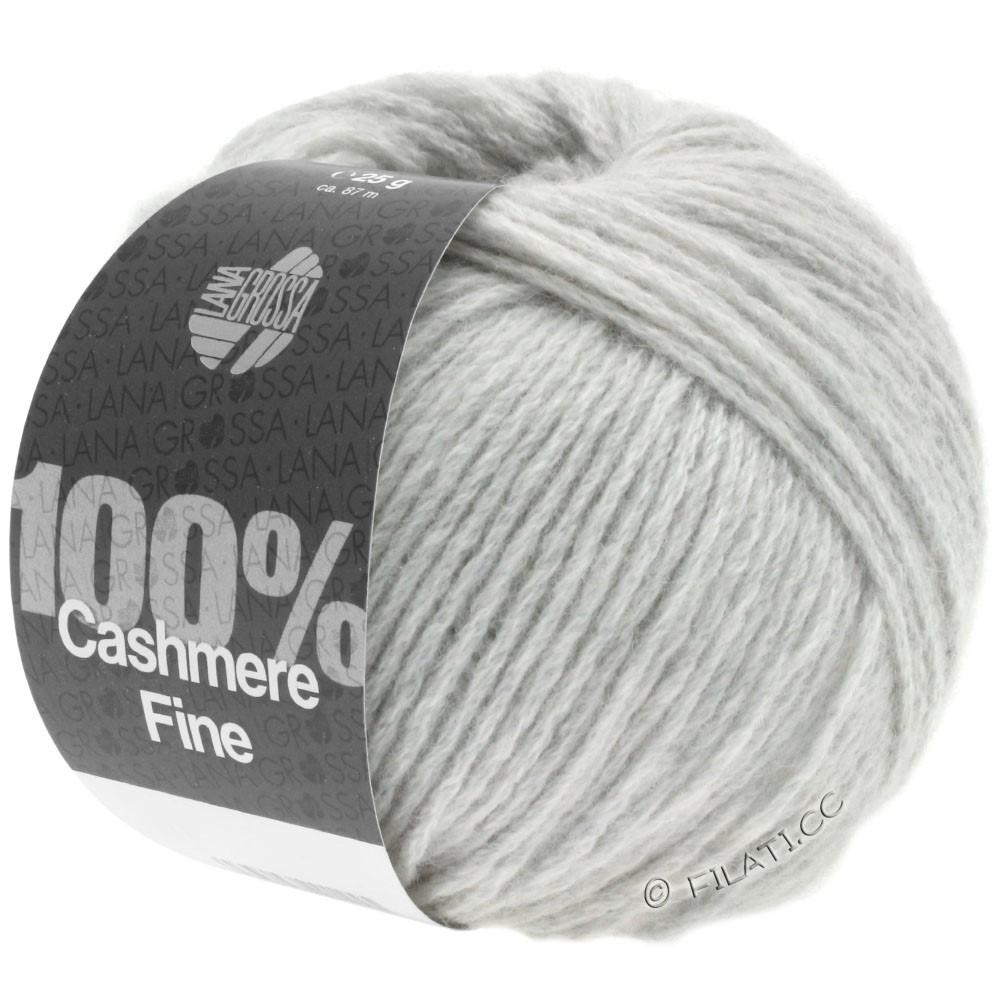 Lana Grossa 100% Cashmere Fine | 01-Silbergrau